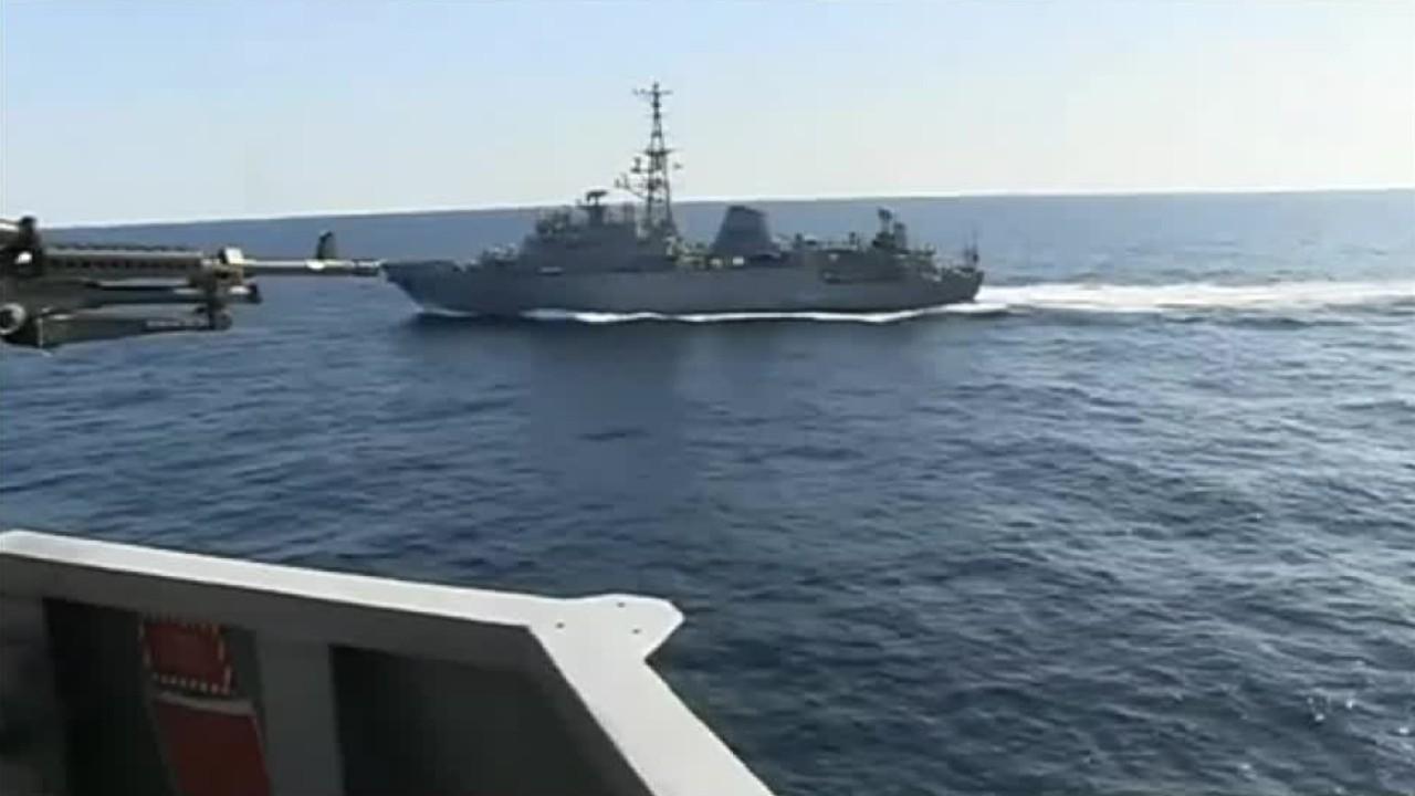 US NAVY: Russian spy ship 鈥榓ggressively鈥� risks collision with US warship in North Arabian Sea