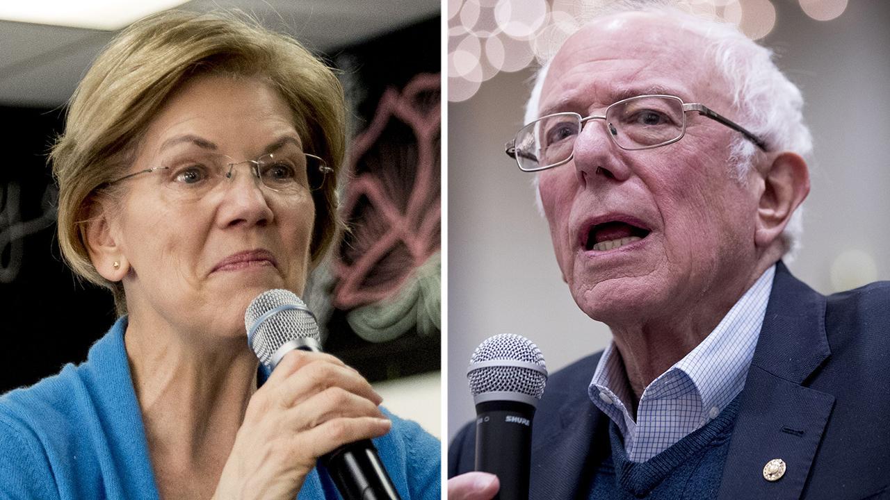 Ο γουόρεν χτυπήματα όπως Σάντερς αρνείται να λέει μια γυναίκα δεν μπορεί να κερδίσει την προεδρία