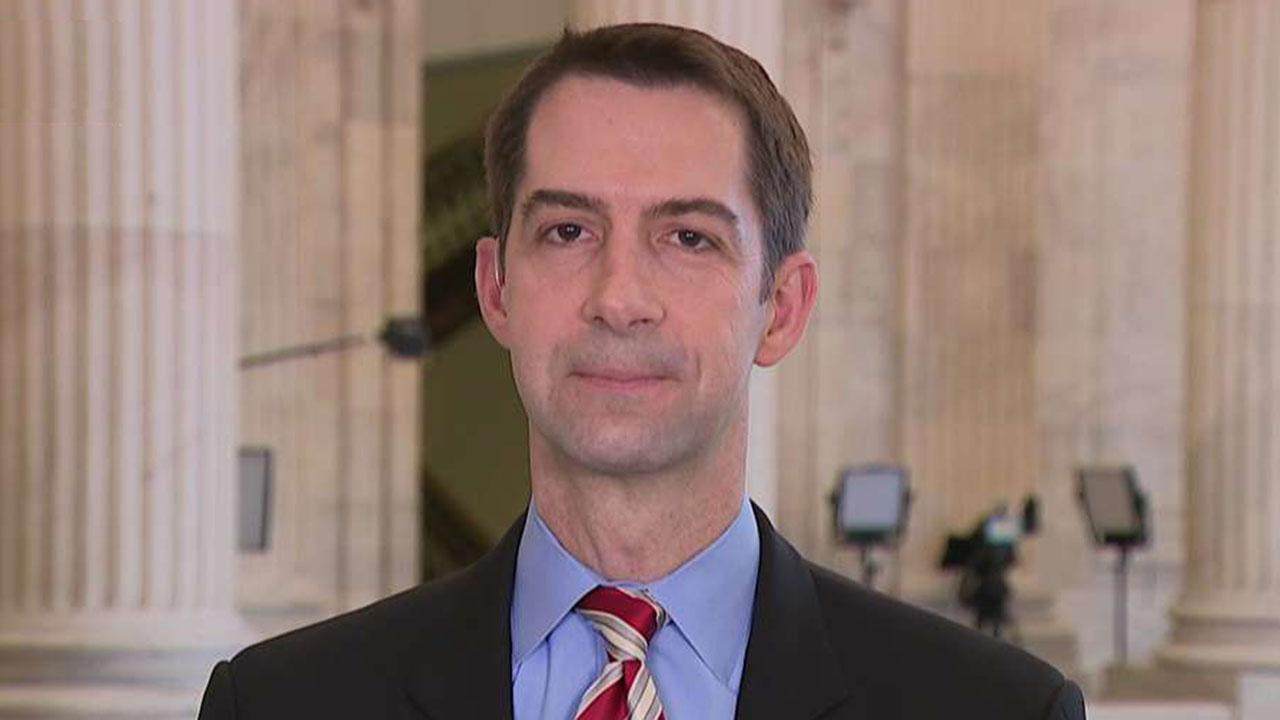 Sen. Cotton calls Lev Parnas documents a 'stunt' by Democrats