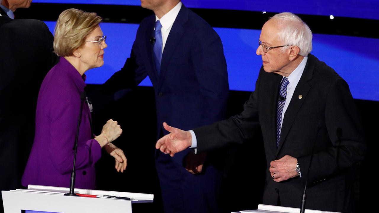 Tense Sanders-Warren exchange caught on hot mic: I think you called me a liar on national TV