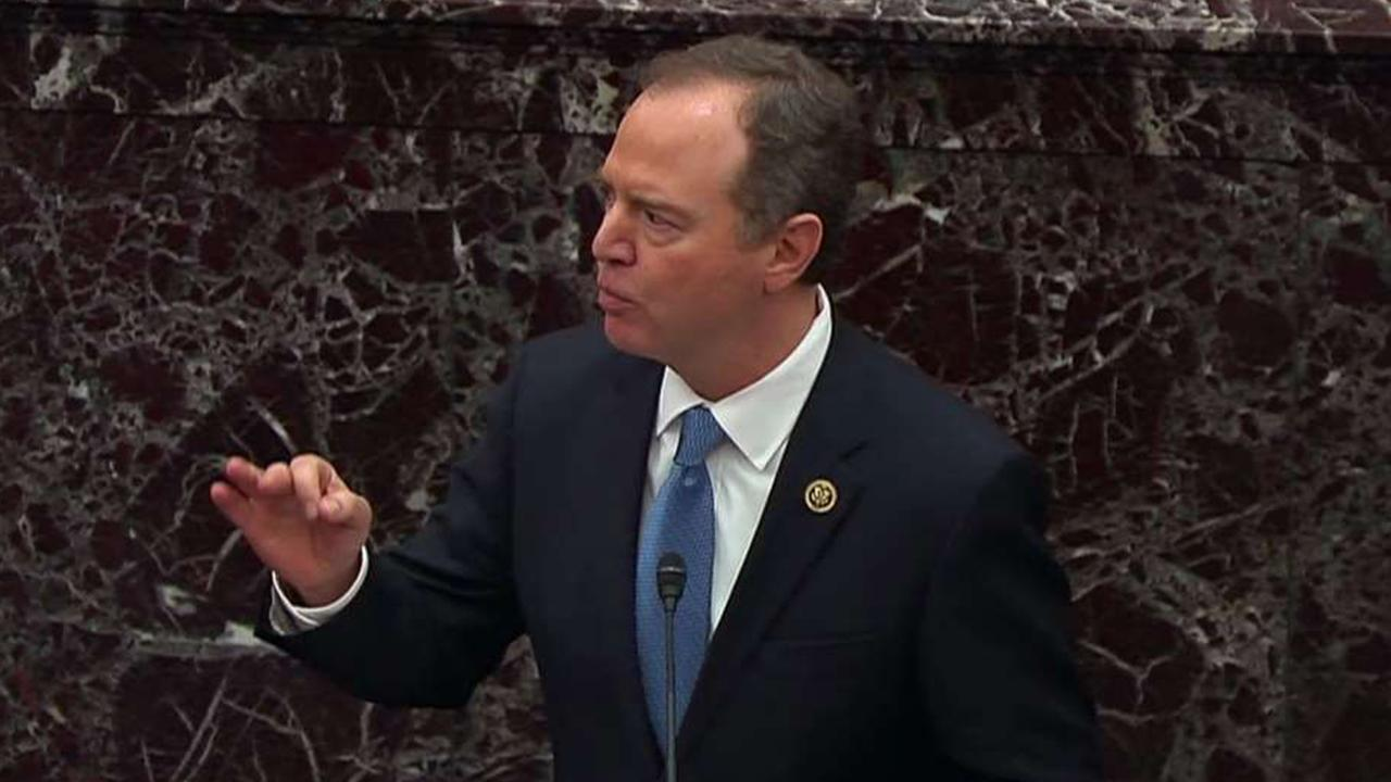 Adam Schiff reads the transcript