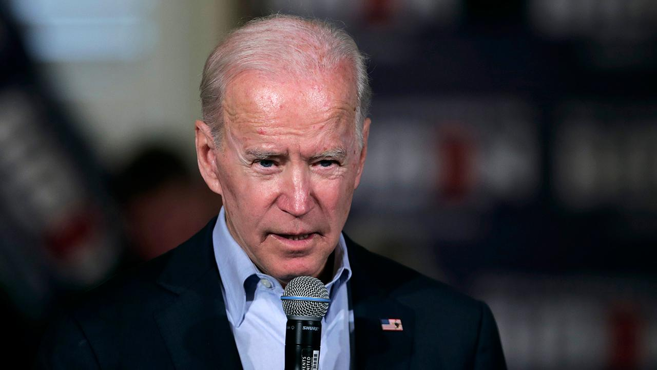 Biden campaigning while some opponents stuck in Senate