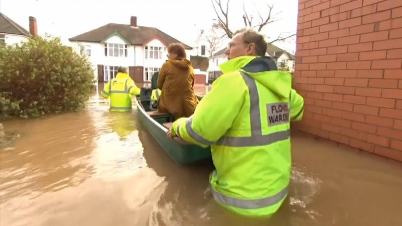 Storm Dennis causes record flooding across England