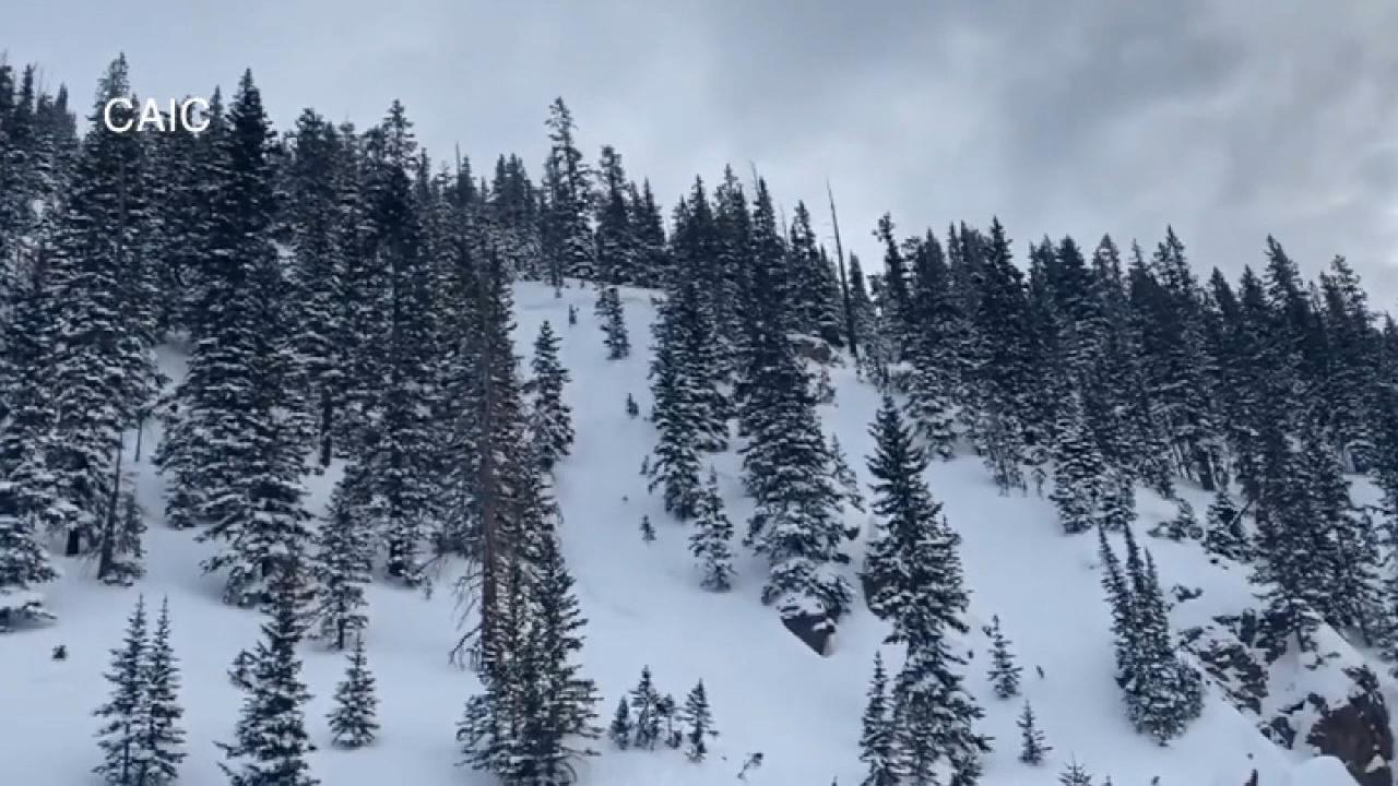 Snowmobiler partially buried in Colorado avalanche