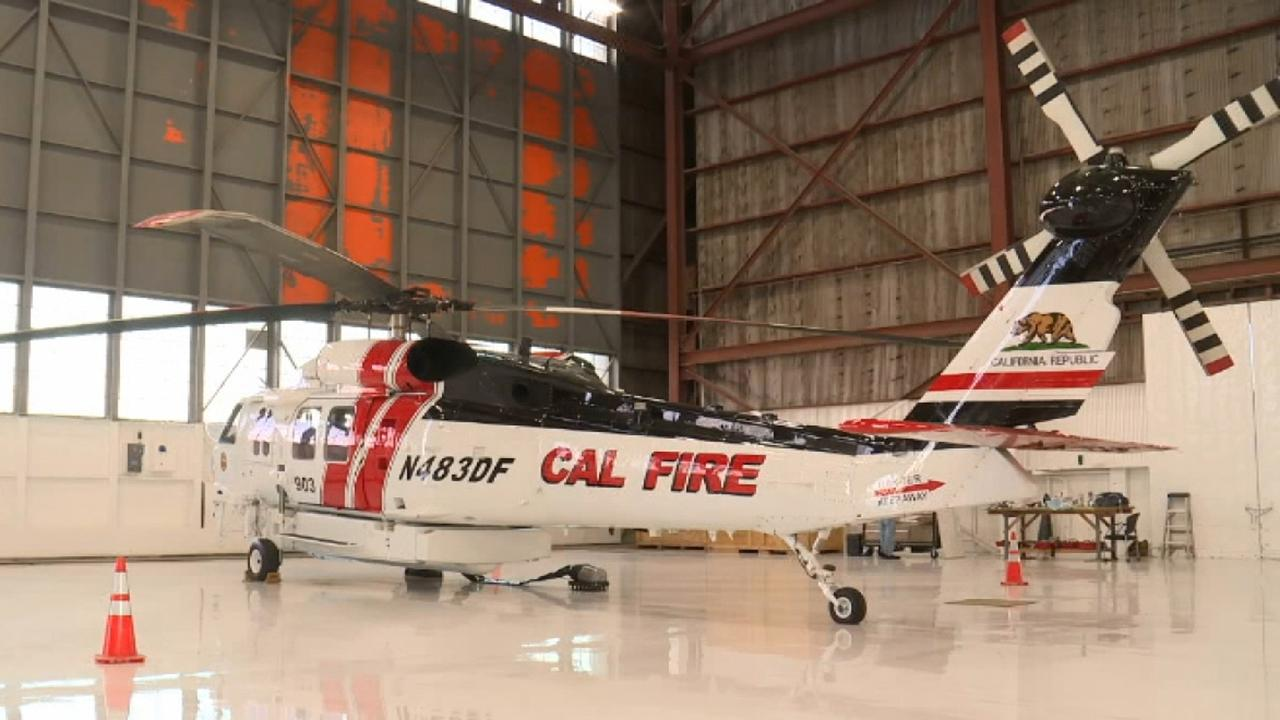 New helicopters to help California firefighters fight wildfires at night dubbed
