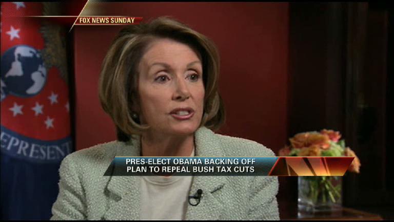 Pelosi & Obama Split on Tax Issues
