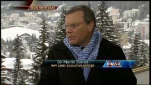 Sorrell Talks Future of Media at Davos