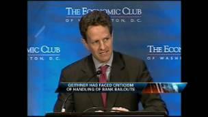 Geithner Speaks on Efforts Against Recession
