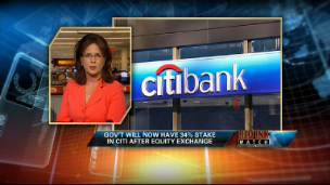 Red Ink Watch: Gov't Takes 34% Stake in Citi