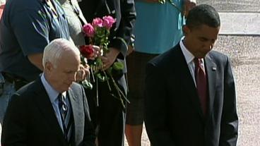 Obama and McCain Honor 9/11 Victims