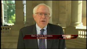 Sen. Bernie Sanders Sounds Off On Bailout