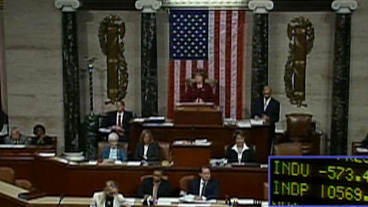 House Rejects Bailout Plan