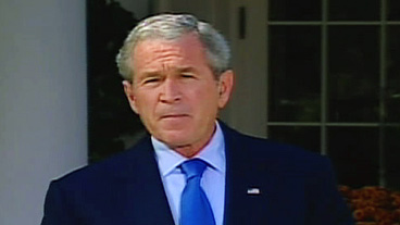 Bush Reassures Panicked Investors