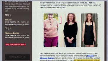 Pics Stolen for Fake Diet Site