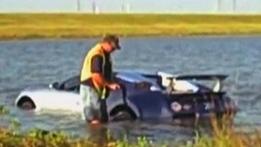 Man Drives Car Into Lake