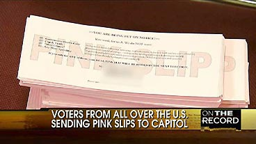 Congress Gets the 'Pink Slip'
