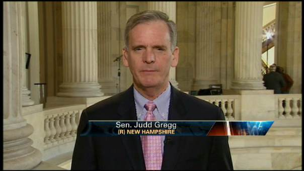 Judd Gregg: No Added TARP $$ for Government