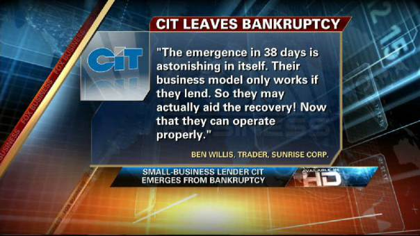 CIT Emerges From Bankruptcy