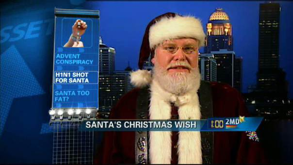 A Blue Christmas for Santa